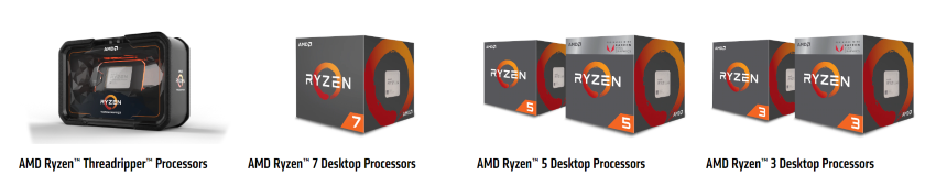 CPU AMD Threadripper and Ryzen
