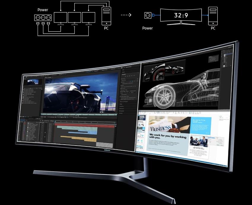 Màn hình máy tính Samsung 49' LC49HG90DMEXXV