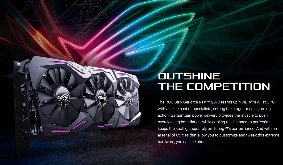 Card đồ họa ASUS GeForce RTX 2070 8GB GDDR6 ROG Strix