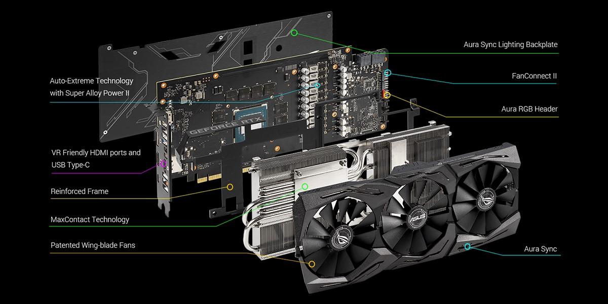 Card đồ họa ASUS GeForce RTX 2070 8GB GDDR6 ROG Strix