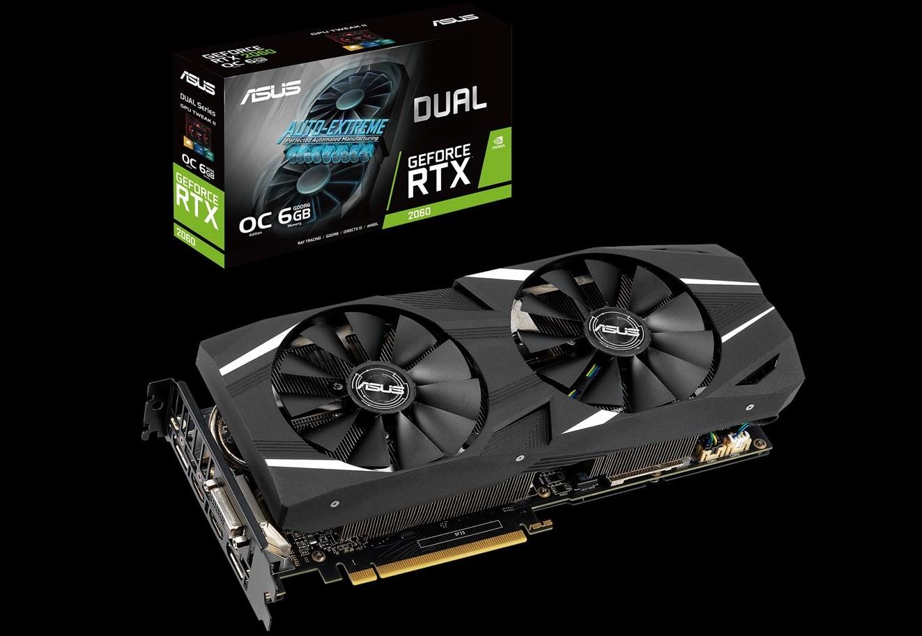 Card đồ họa Asus GeForce RTX 2060 6GB GDDR6 Dual OC