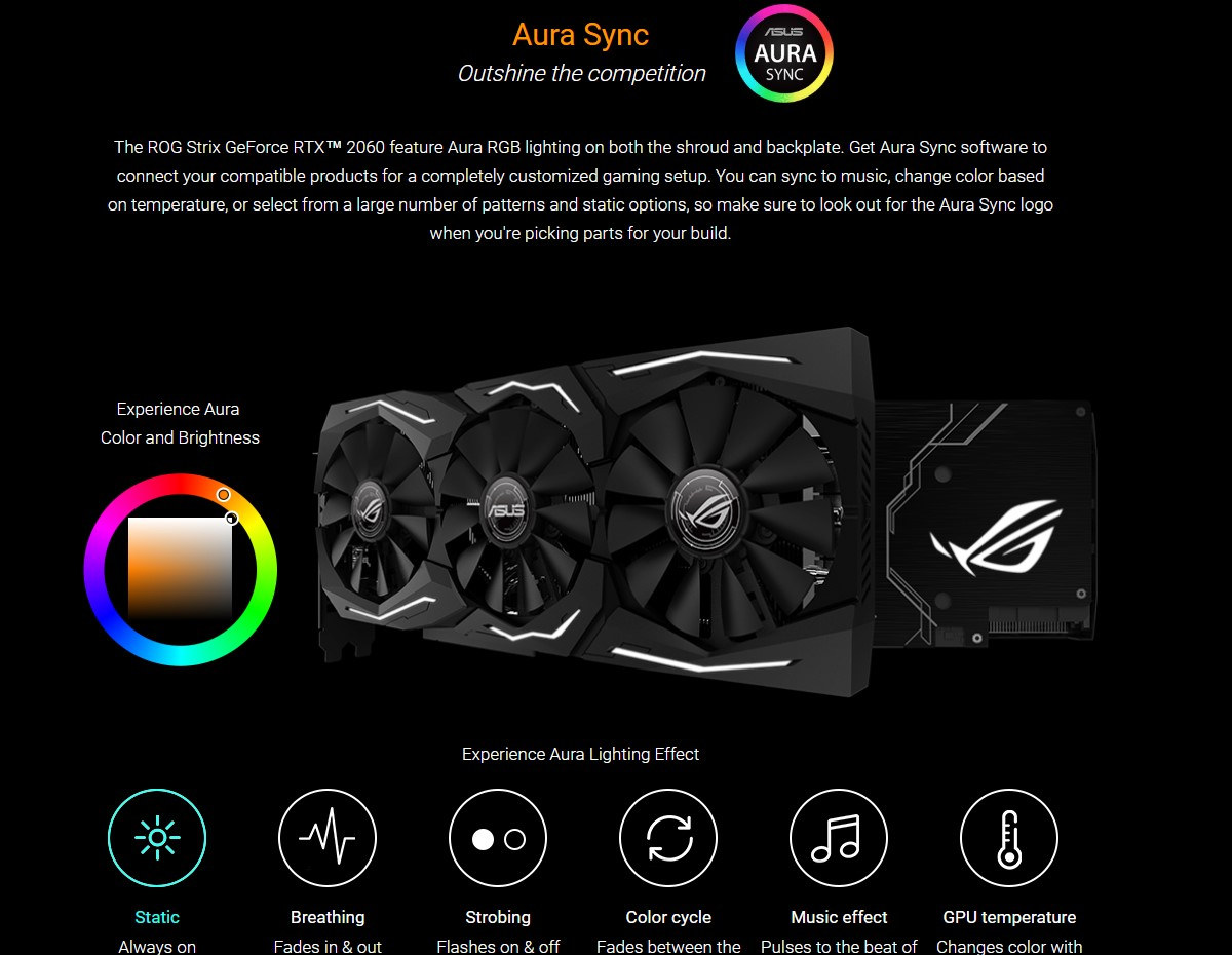 Card đồ họa Asus ROG Strix RTX 2060 Advanced 6GB GDDR6