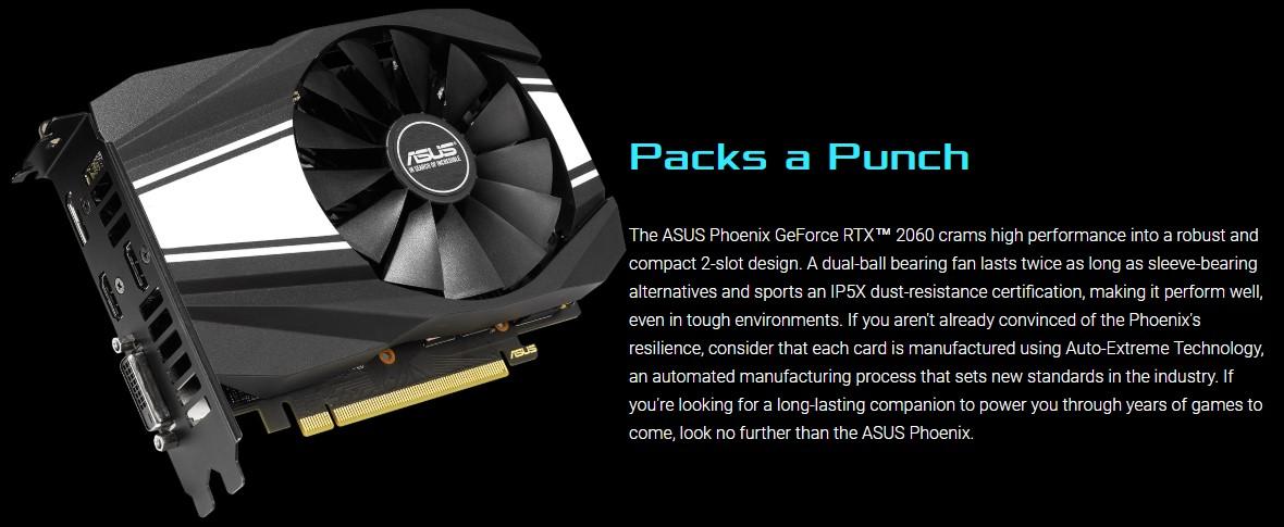 Card đồ họa Asus RTX 2060 6GB GDDR6 Phoenix