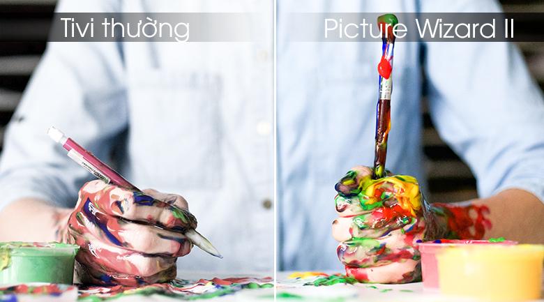 Công nghệ Picture Wizard II đem tới hình ảnh với màu sắc sống động đẹp mắt