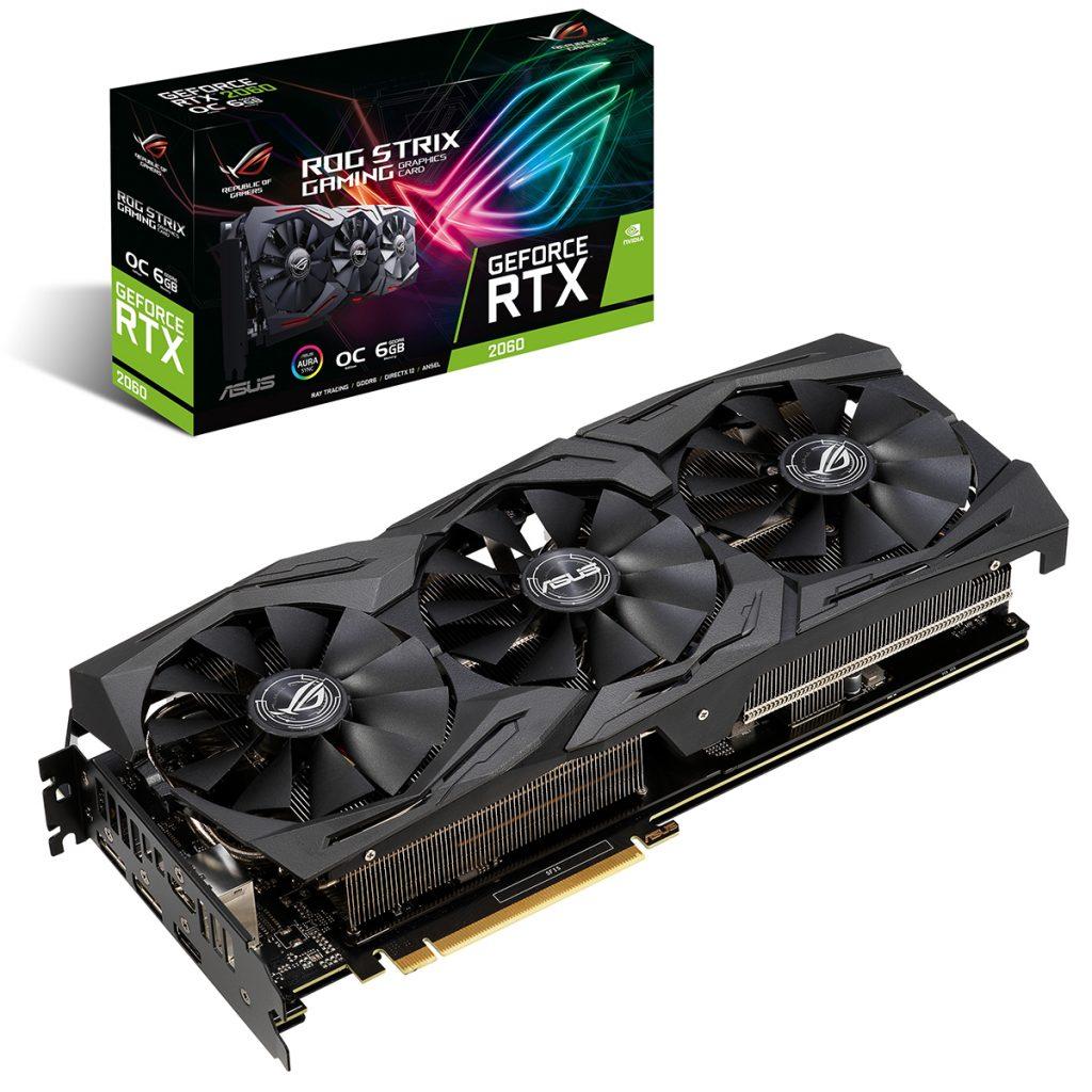 Card màn hình VGA Asus Geforce RTX 2060 GAMING 6GB GDDR6ROG Strix (ROG-STRIX-RTX2060-6G-GAMING)