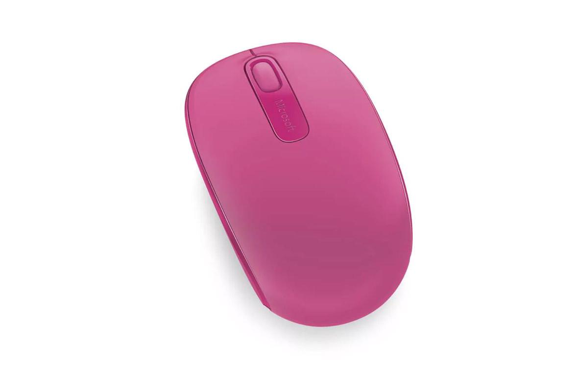 Chuột máy tính Microsoft Wireless Mobile Mouse 1850 (Hồng đậm)