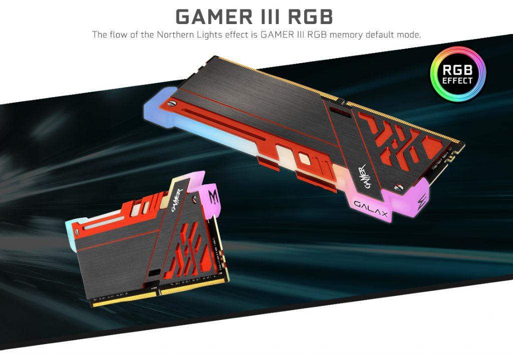 Được trang bị hệ thống LED RGB, RAM GALAX Gamer III DDR4 không chỉ đảm bảo sức mạnh mà còn thêm cả yếu tố trang trí cho hệ thống của bạn.