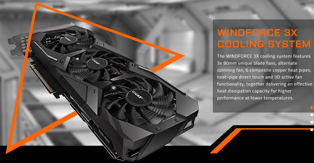 Card đồ họa Gigabyte GeForce RTX 2080 8GB GDDR6 WinForce