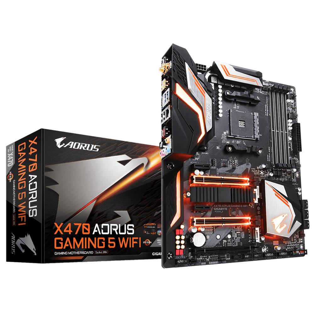 Bo mạch chủ Gigabyte X470 Aorus Gaming 5 Wifi