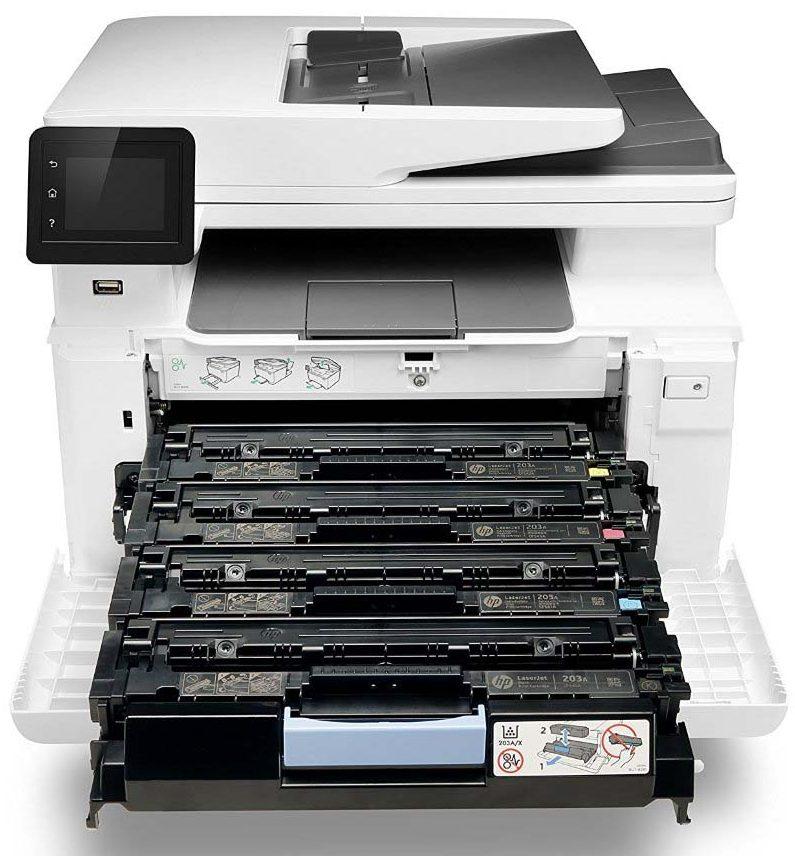 Máy in HP Color LaserJet Pro MFP M281fdw (T6B82A) khay chứa giấy rộng tiện cho việc in ấn không lo hết giấy