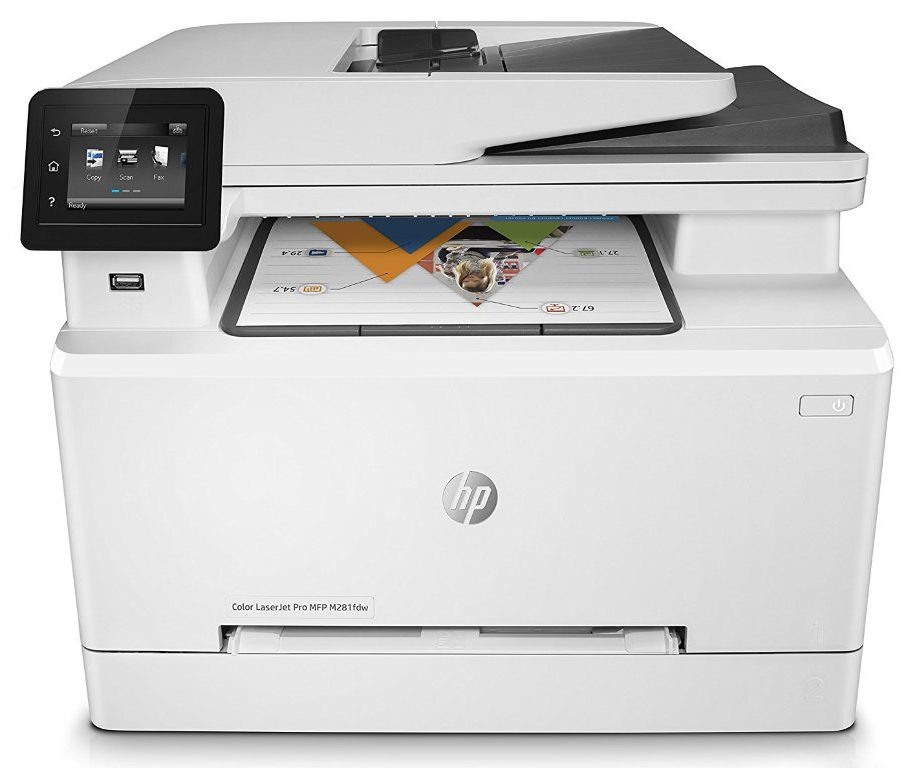 Máy in HP Color LaserJet Pro MFP M281fdw (T6B82A) thiết kế tinh xảo màu sắc trang nhã
