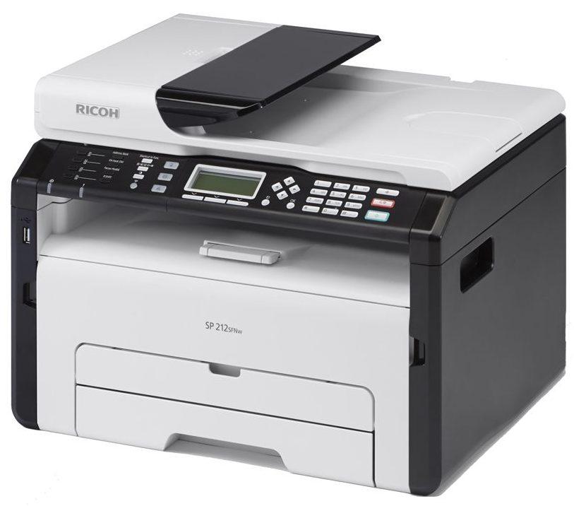 Máy in laser trắng đen RICOH SP212SFNW khay nạp giấy lớn thuận tiện người sử dụng