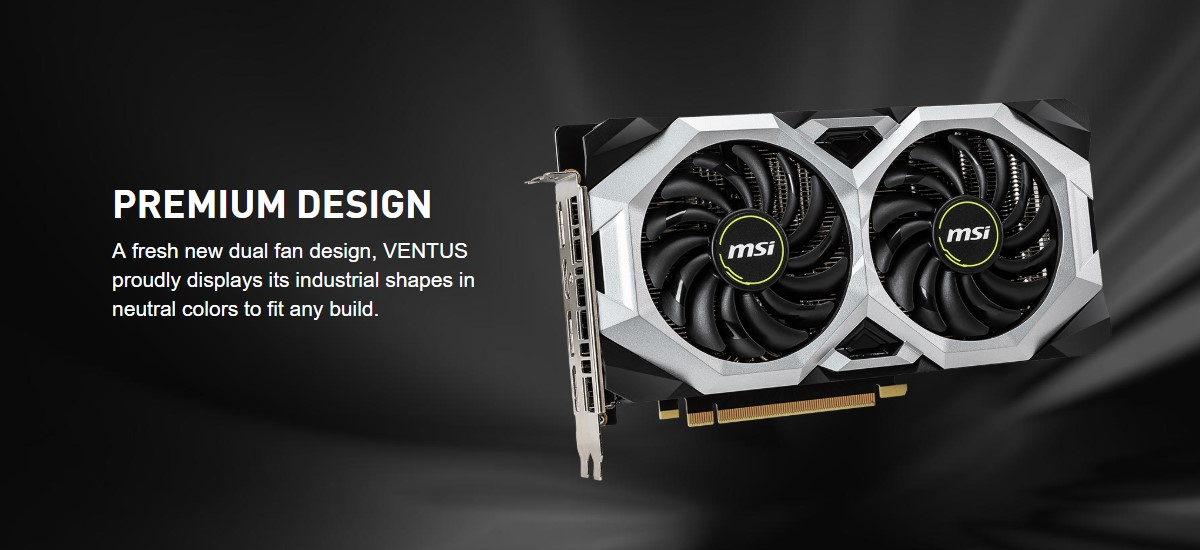 Card đồ họa MSI GeForce RTX 2060 6GB GDDR6 VENTUS OC