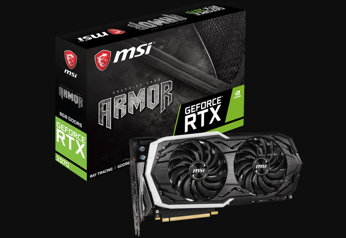Card đồ họa MSI GeForce RTX 2070 8GB GDDR6 Armor