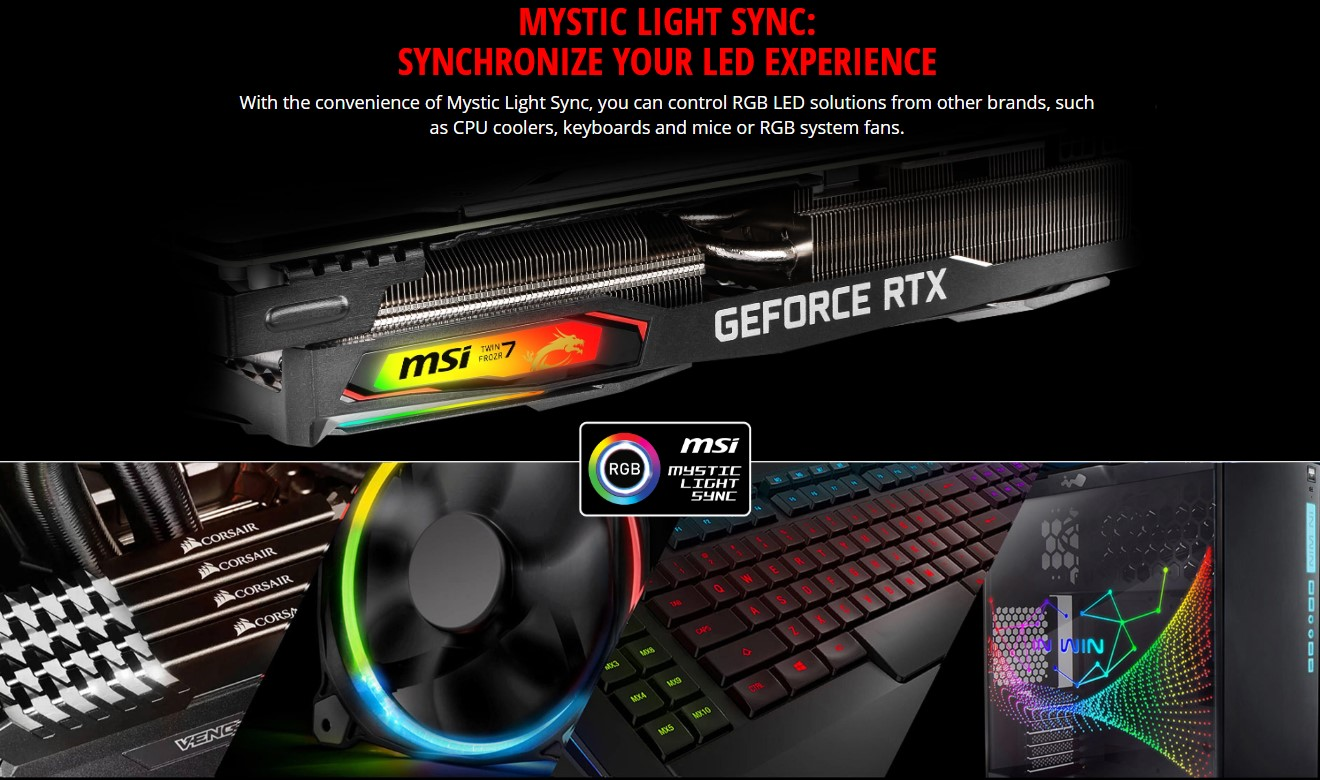 Card đồ họa MSI GeForce RTX 2070 8GB GDDR6 Gaming X