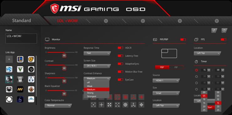 Ứng dụng gaming osd