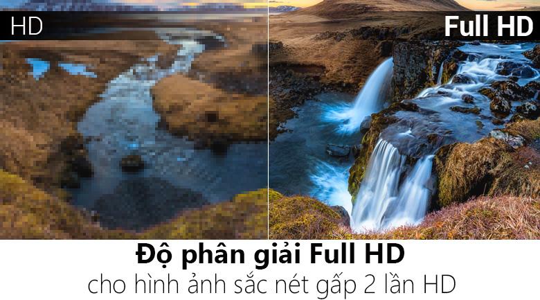 Độ phân giải FullHD đem tới chất lượng hình ảnh sắc nét vô cùng chân thật