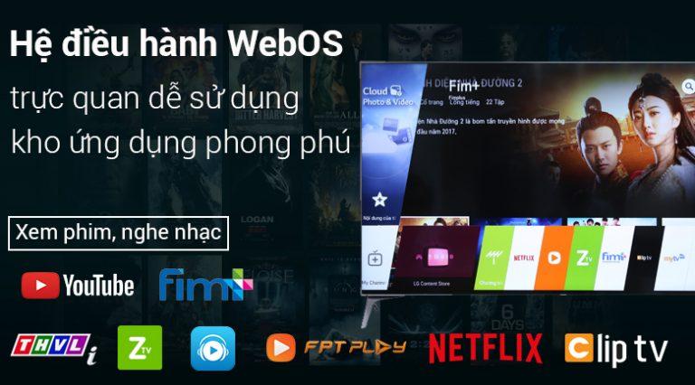 Smart Tivi LG 4K 55 inch 55UM7300PTAvới hệ điều hành WebOS đa dạng dễ dàng sử dụng