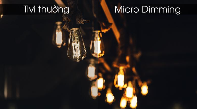 công nghệ micro dimming tối ưu dình ảnh đem độ tương phản ấn tượng