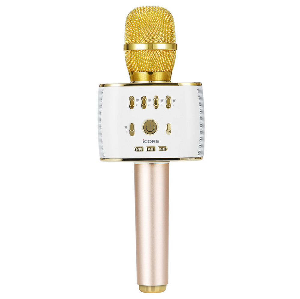 Micro Karaoke di động kèm loa iCore IC-M9 thiết kế đẹp mắt sang trọng cực kỳ tiện lợi