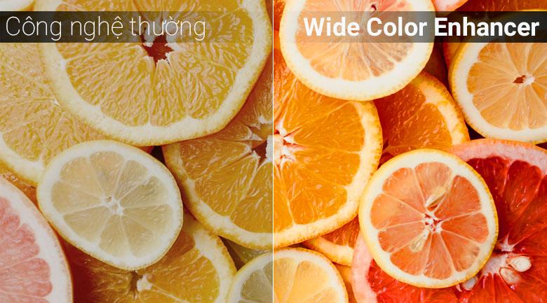 Công nghệ Wide Color Enhancer đem tới nâng cấp màu hình ảnh sắc nét chân thực