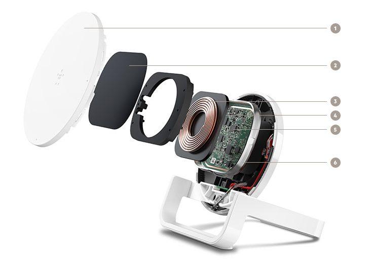 Đế Sạc Không Dây Belkin Cho Apple, Samsung, LG, Sony F7U052jaBLK Công Suất 10W Chuẩn Sạc Không Dây Qi-4