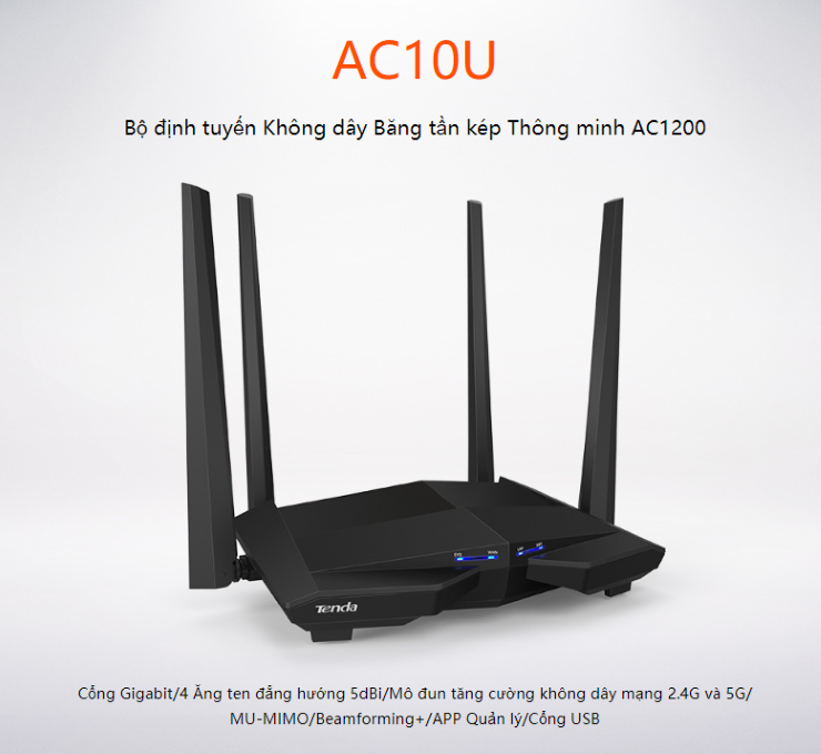 Router Tenda AC10U