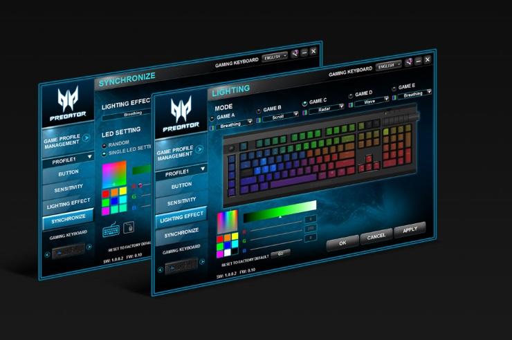 Bàn phím cơ Gaming Acer Predator Aethon 500
