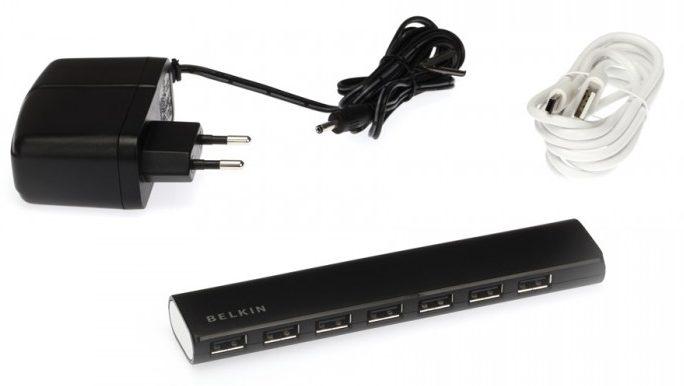 Bộ chia cỏng USB BELKIN 7-PORT USB 2.0 HUB F4U041SA phù hơp kết nối với mọi thiết bị