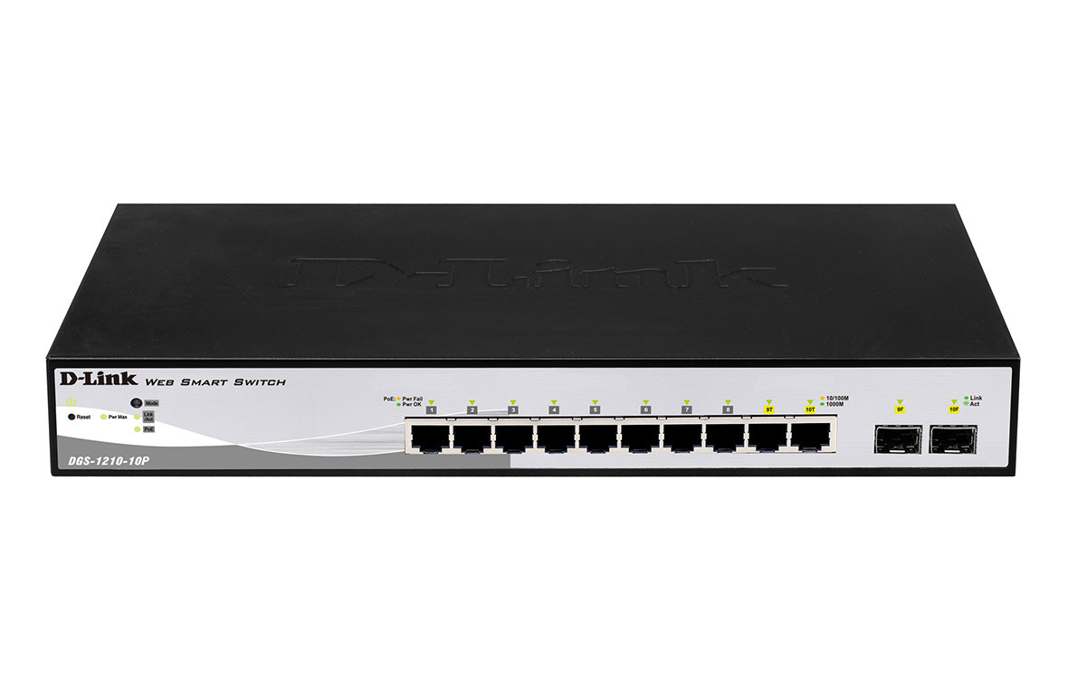 Switch D-Link 10P DGS-1210-10P