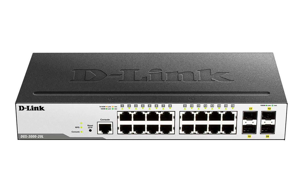 Switch D-Link 4P DGS-3000-20L