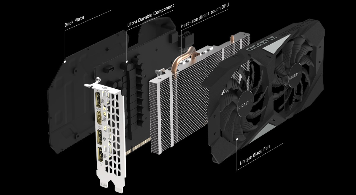 Card đồ họa GIGABYTE GeForce GTX 1660Ti 6GB GDDR6 OC