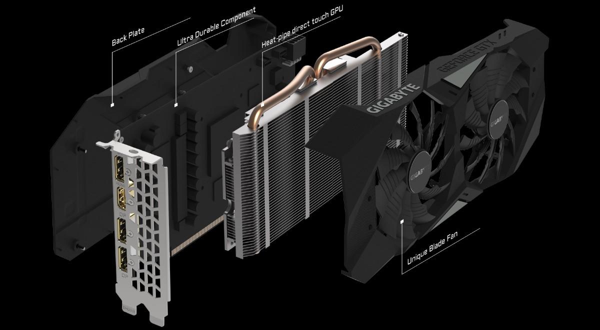 Card màn hình GIGABYTE GeForce GTX 1660Ti 6GB GDDR6 WindForce OC
