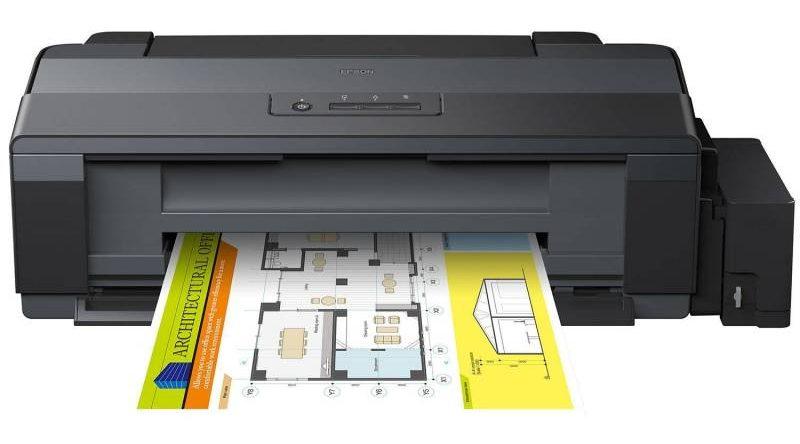 Máy in phun màu EPSON L1300 sử dụng được với tất cả các loại giấy A4,A5,...