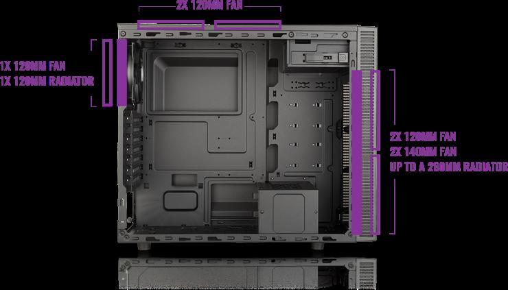 Case máy tính Cooler Master MasterBox E500L - 3