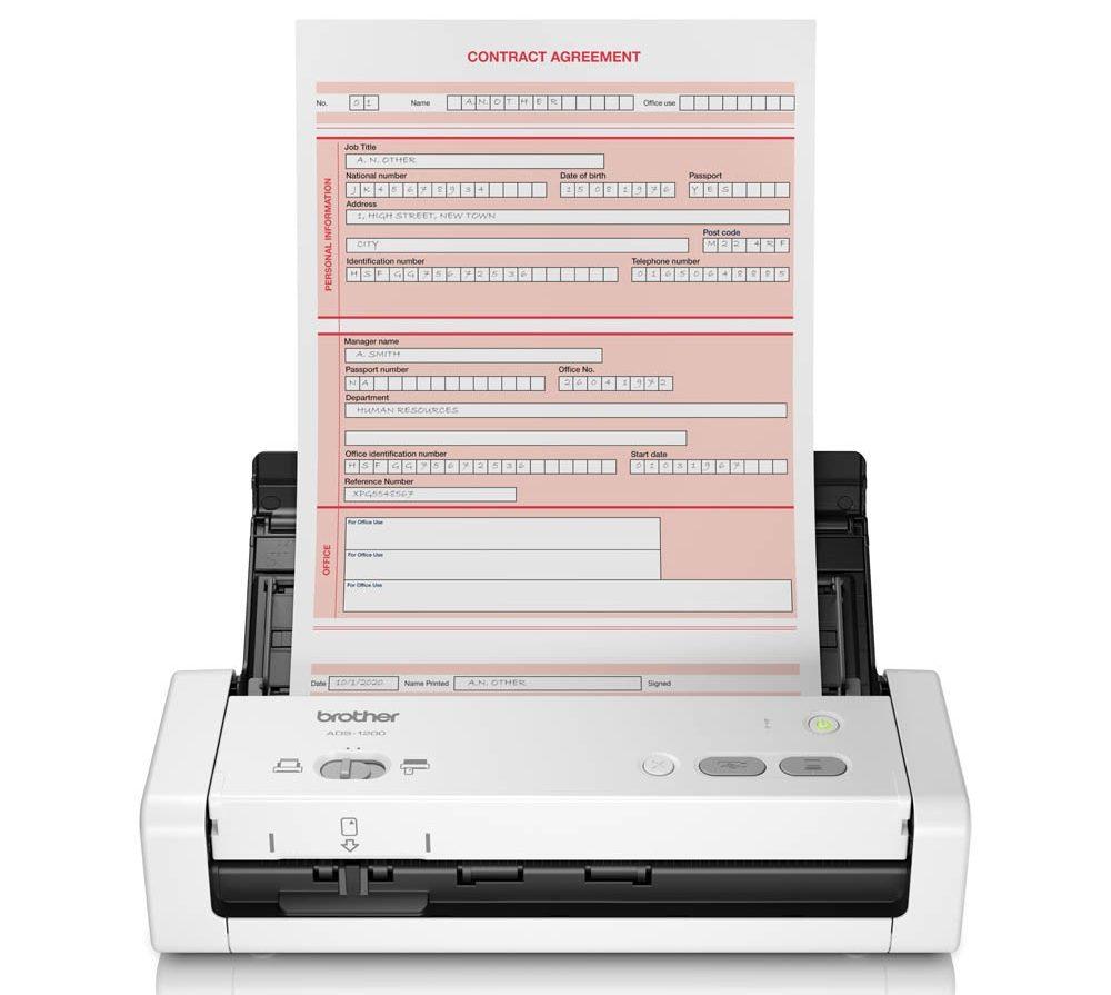 máy scan Brother ADS-1200 cái khả năng scan nhiều tài liệu văn bản khác nhau
