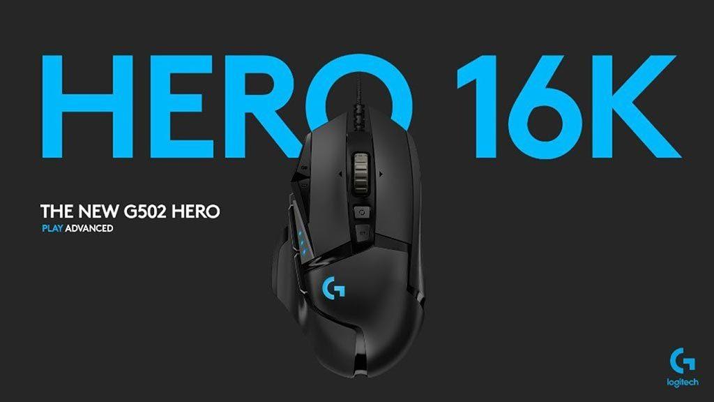 Logitech G502 Hero cam bien hero 16k