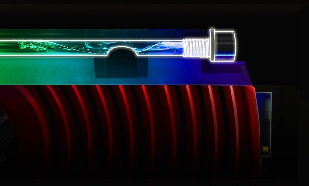 Tản nhiệt chất lỏng SPECTRIX D80 có thiết kế kín, đảm bảo nó hoàn toàn kín khí