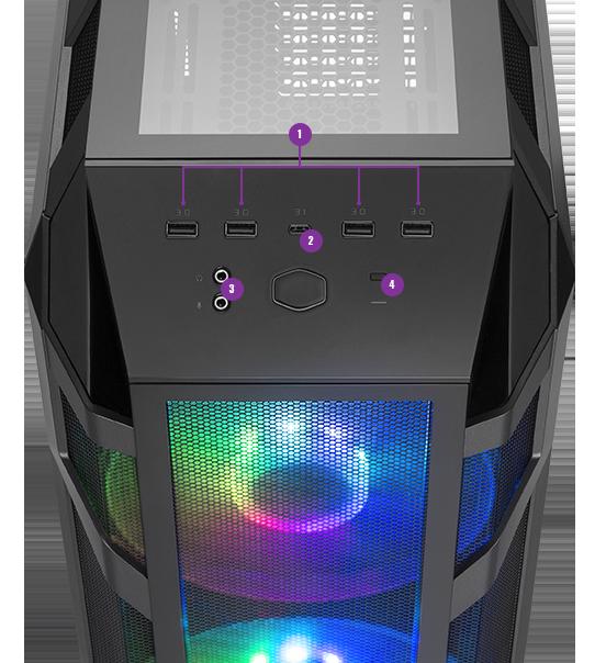 Case máy tính Cooler Master MasterCase H500M -3