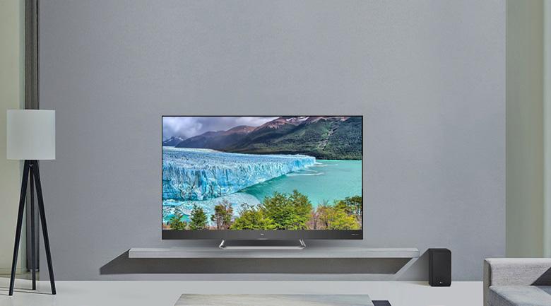 tivi tcl l55x4 thiết kế đẹp mắt phù hợp với mọi không gian sử dụng