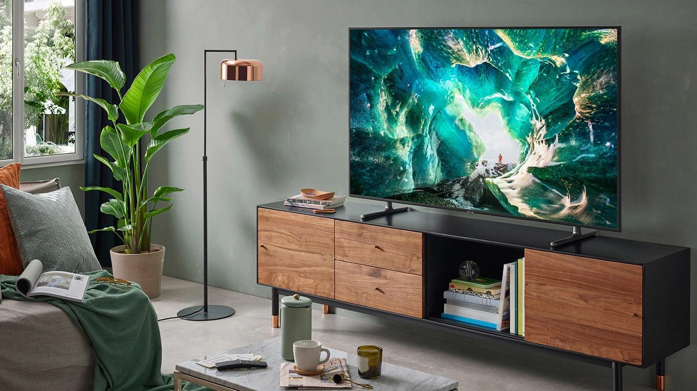 Smart Tivi Samsung 4K 49 Inch UA49RU8000KXXV thiết kế đẹp mắt phù hợp với mọi không gian