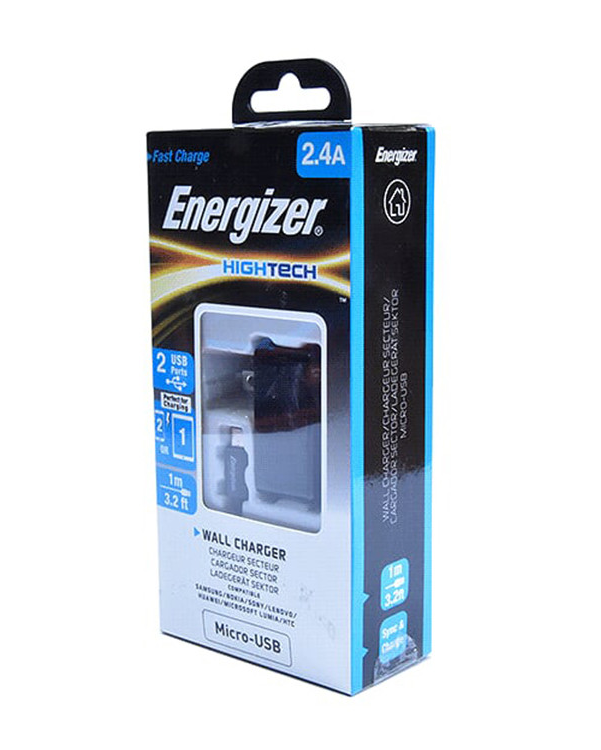 Sạc Energizer 2 cổng USB, Kèm Cáp Micro USB - ACA2BEUHMC3