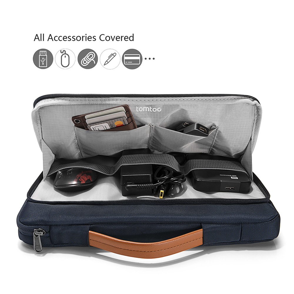 Với ngăn phụ rộng rãi, người dùng hoàn toàn có thể chứa đựng những thiết bị ngoại và phần cứng khác.