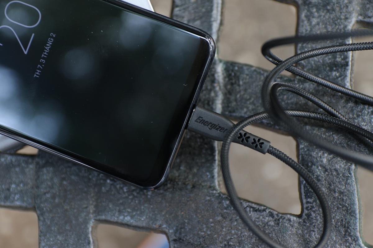 Cáp sạc USB Type C cho Samsung LW Energizer C41C2AGBKT-3