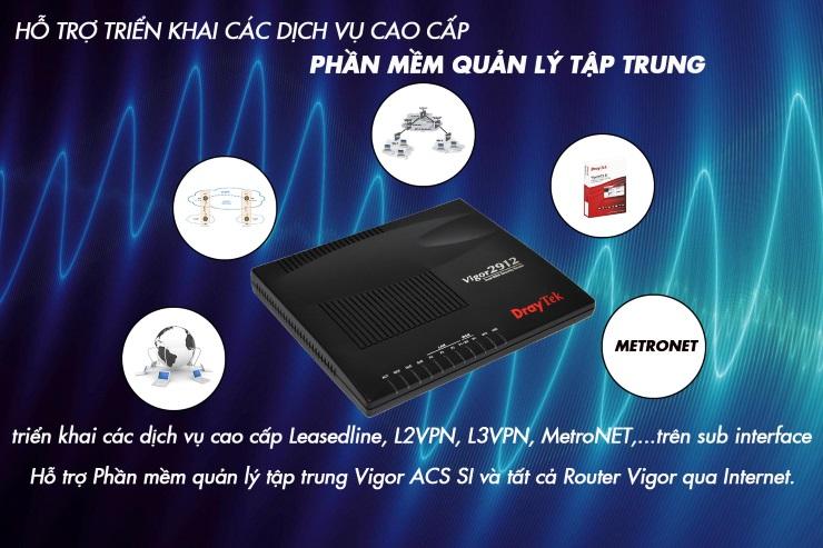 Router Wifi DrayTek Virgo V2912F