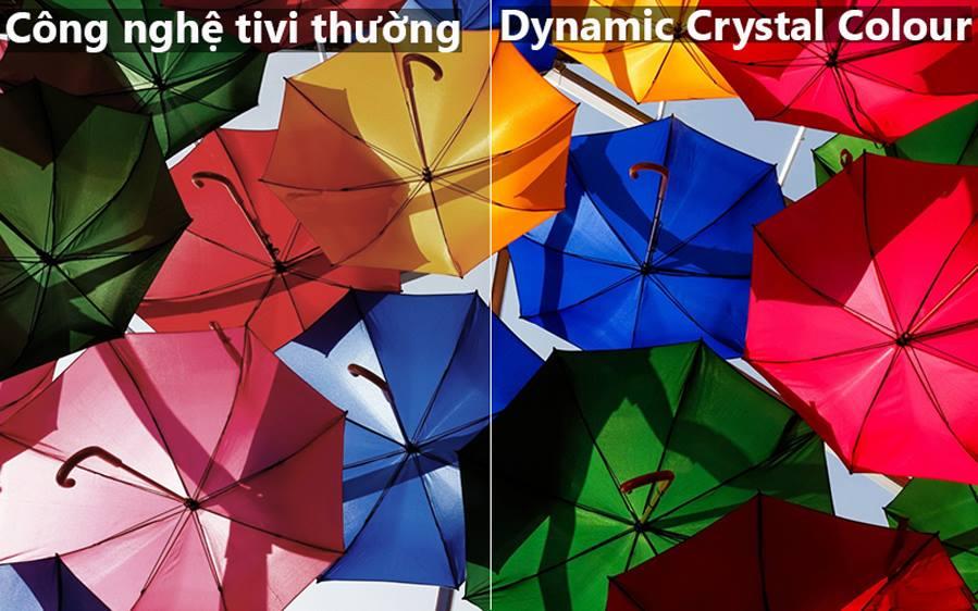 Dynamic Crystal Color đem tới màu sắc rực rỡ tăng trải nghiệm cho người dùng