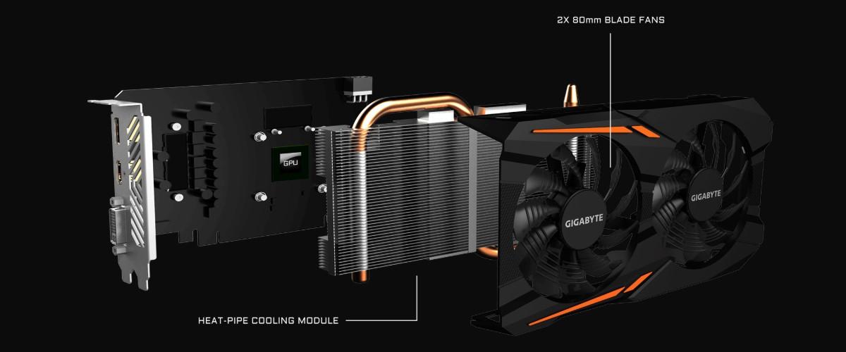 GIGABYTE Radeon RX 560 4GB GDDR5 Gaming OC
