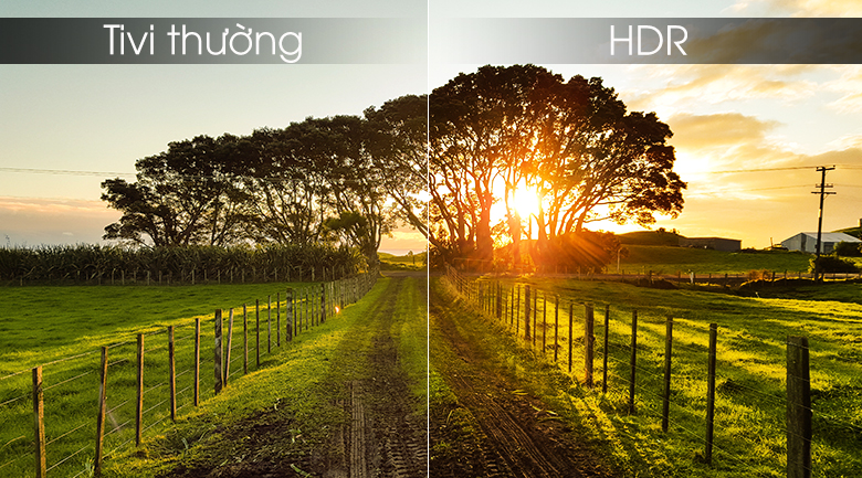công nghệ hình ảnh HDR đem tới độ nét và màu sắc đẹp mắt gần gũi cho người xem