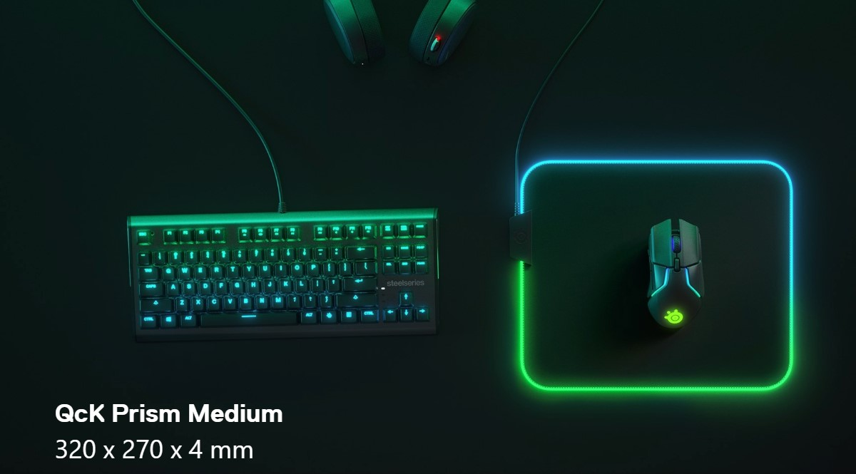 Lót chuột SteelSeries QcK Prism Cloth RGB - Size M