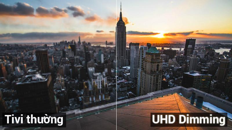 công nghệ uhd Diming giúp hình ảnh được tái tạo đạt mức cao